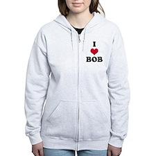I Love Bob Zip Hoodie
