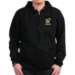 sftri club logo Zip Hoodie (dark)