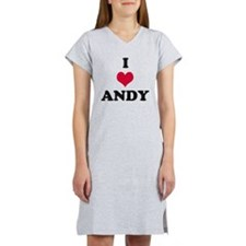 I Love Andy Women's Nightshirt