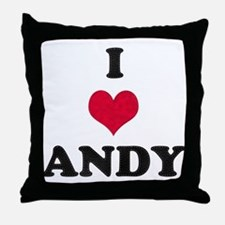 I Love Andy Throw Pillow
