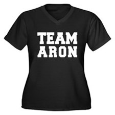 TEAM ARON Women's Plus Size V-Neck Dark T-Shirt
