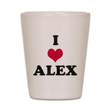 I Love Alex Shot Glass