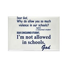God in School Rectangle Magnet