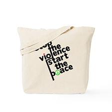 Stop Violence Bring Peace Tote Bag