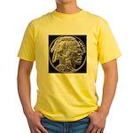 Silver Indian-Buffalo Yellow T-Shirt