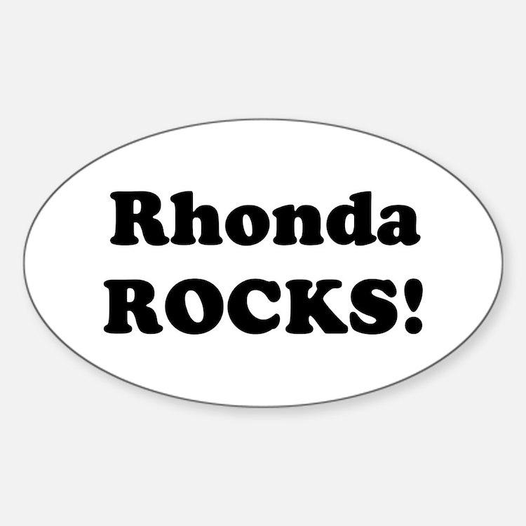 Rhonda Rocks! Oval Decal
