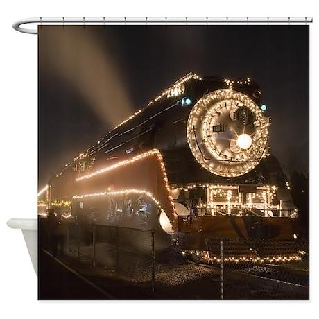 Holiday Train 1.jpg Shower Curtain