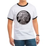 Silver Indian-Buffalo Ringer T