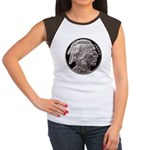 Silver Indian-Buffalo Women's Cap Sleeve T-Shirt
