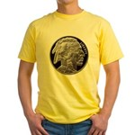 Silver Indian-Buffalo Yellow T-Shirt