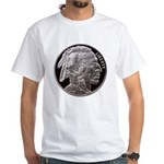 Silver Indian-Buffalo White T-Shirt