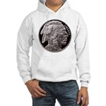 Silver Indian-Buffalo Hooded Sweatshirt