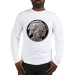 Silver Indian-Buffalo Long Sleeve T-Shirt