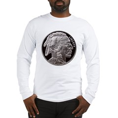 Silver Indian-Buffalo Long Sleeve T-Shirt