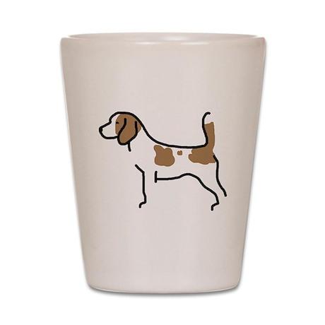 Beagle II Shot Glass