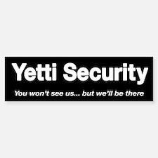 Yetti Security bumper sticker