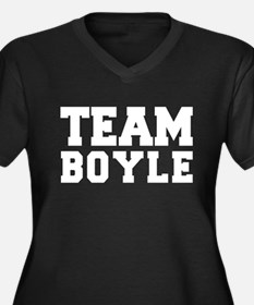 TEAM BOYLE Women's Plus Size V-Neck Dark T-Shirt