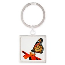 The Monarch Square Keychain