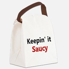 Saucy Chef Canvas Lunch Bag
