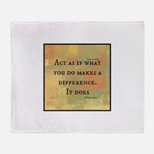 You Make a Difference Throw Blanket