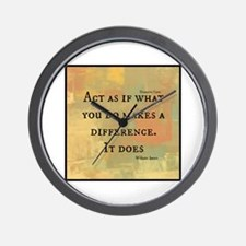You Make a Difference Wall Clock