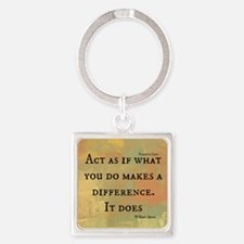 You Make a Difference Square Keychain