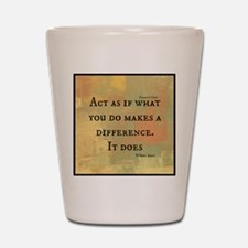 You Make a Difference Shot Glass