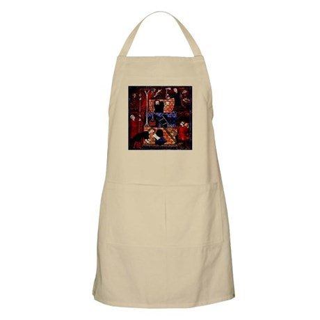 Building Babel French Bible H BBQ Apron