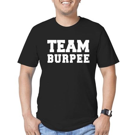 TEAM BURPEE Men's Fitted T-Shirt (dark)