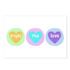Triple The Love Postcards (Package of 8)