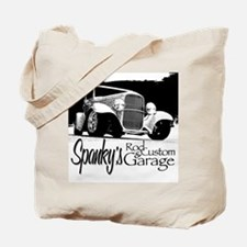 Spanky's Rod & Custom Garage - B&W Tote Bag