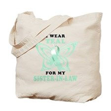 I Wear Teal for my Sister in Law.png Tote Bag