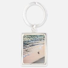 Solitary Sandpiper Portrait Keychain