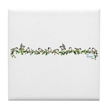 little band of chickadees Tile Coaster