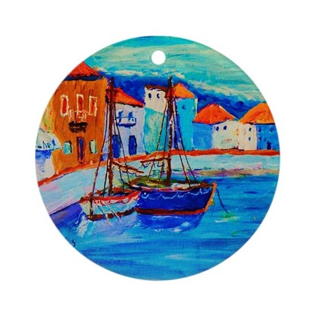 Chios Harbor Christmas Ornament