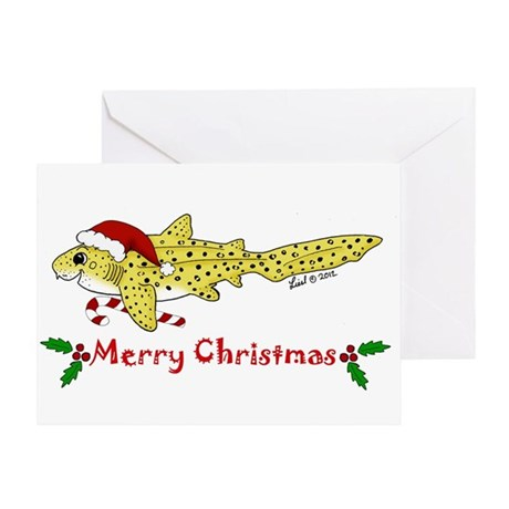 holiday zebra shark Greeting Card