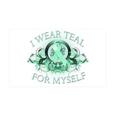 I Wear Teal for Myself Wall Decal