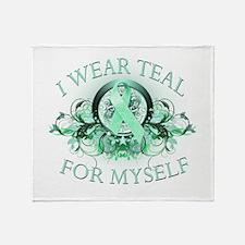 I Wear Teal for Myself Throw Blanket