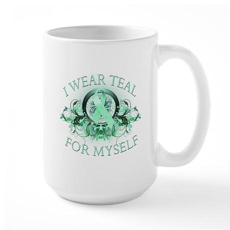 I Wear Teal for Myself Large Mug