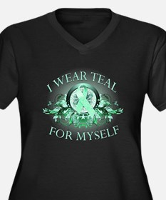 I Wear Teal for Myself Women's Plus Size V-Neck Da