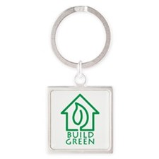 Build Green Square Keychain