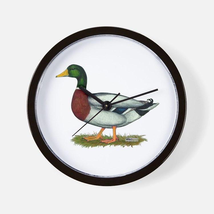 Mallard Duck Drake Wall Clock