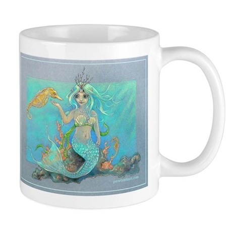 "Mug (small) ""Mermaid & Seahorse"""