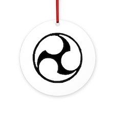 Okinawan Triskelle Ornament (Round)
