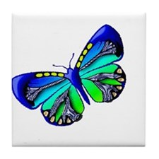 Blue Green Jewel Tile Coaster