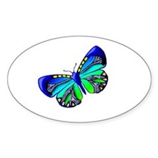 Blue Green Jewel Oval Decal