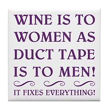 WINE IS... Tile Coaster