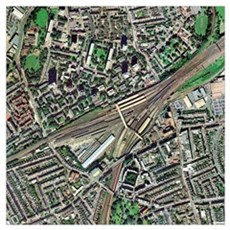 Clapham Junction station, aerial image Poster