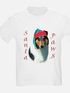 Santa Paws Collie Smooth Kids T-Shirt
