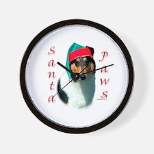 Santa Paws Collie Smooth Wall Clock